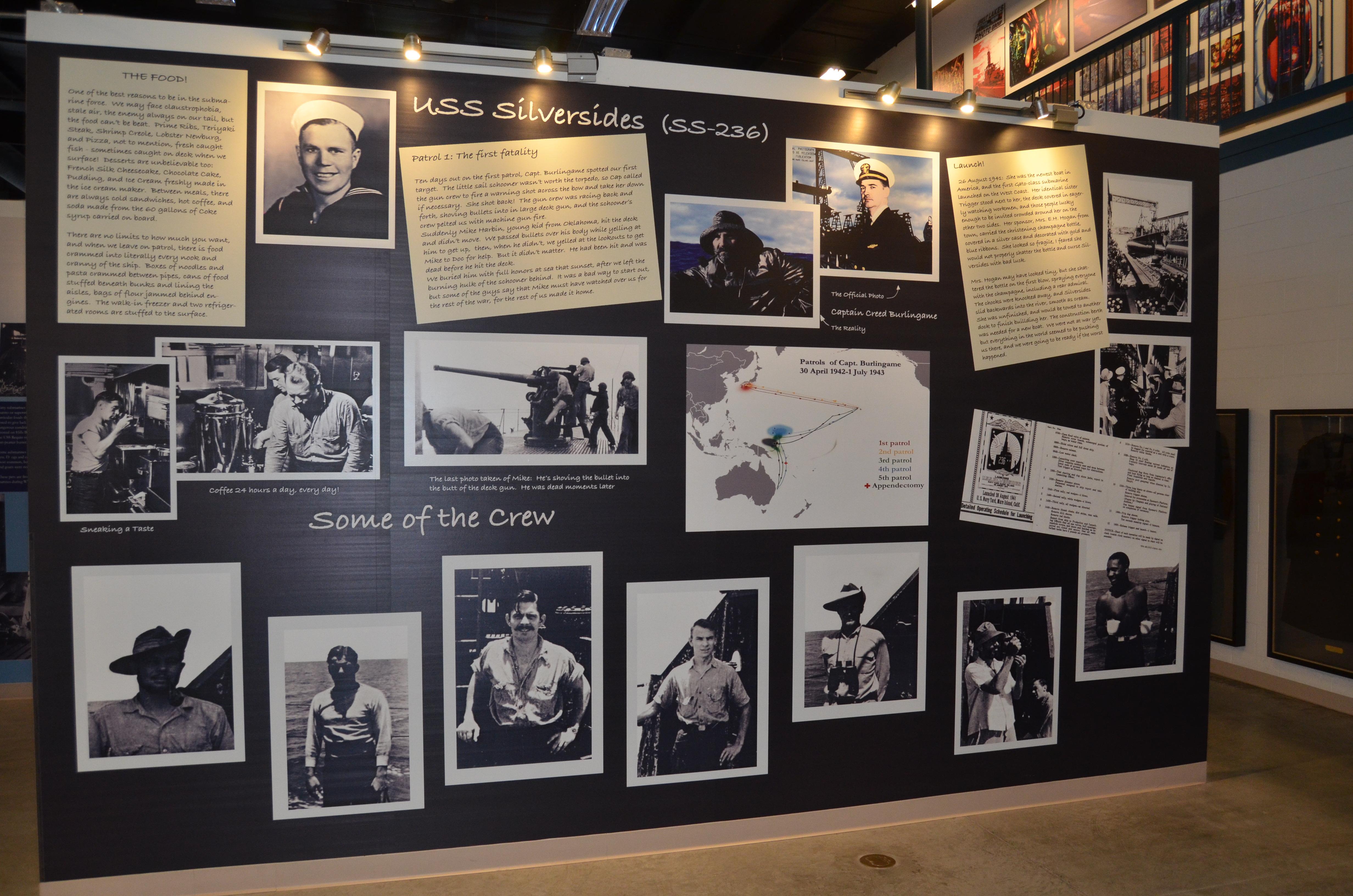 USS Silversides Submarine Museum Crew Photos