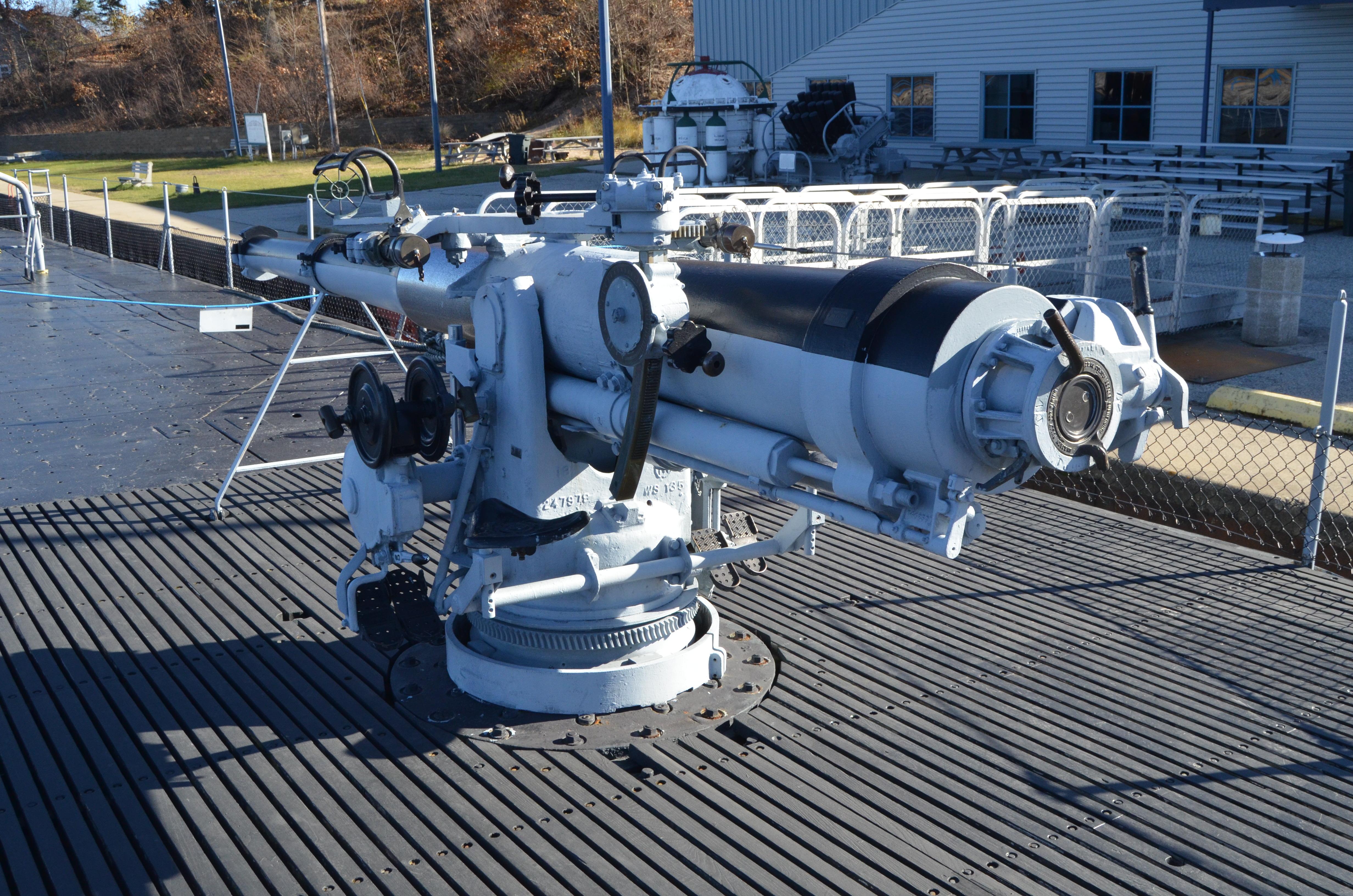 USS Silversides Submarine Museum Deck Gun