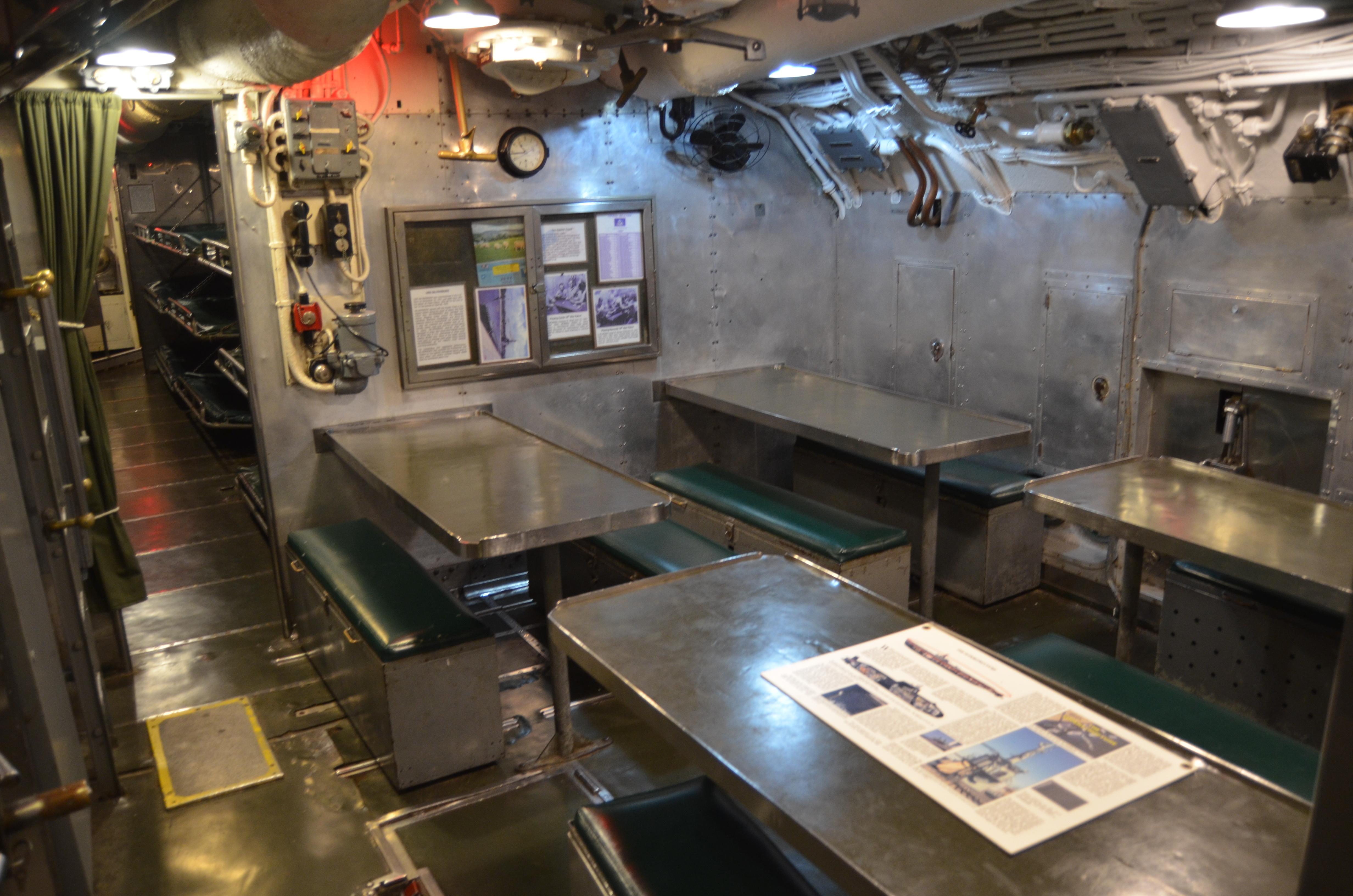 USS Silversides Submarine Museum Dining Area 2