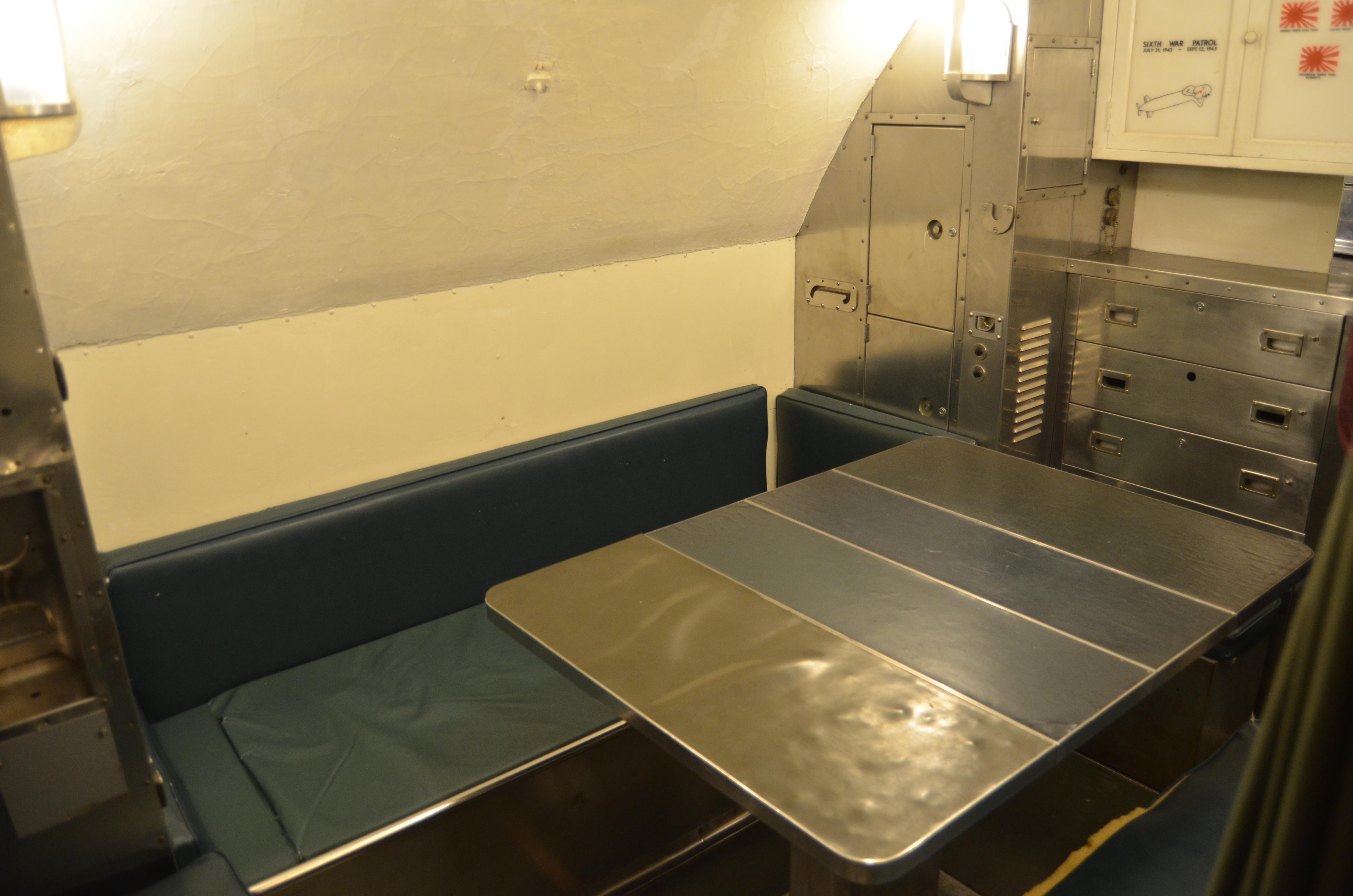 USS Silversides Submarine Museum Dining Area