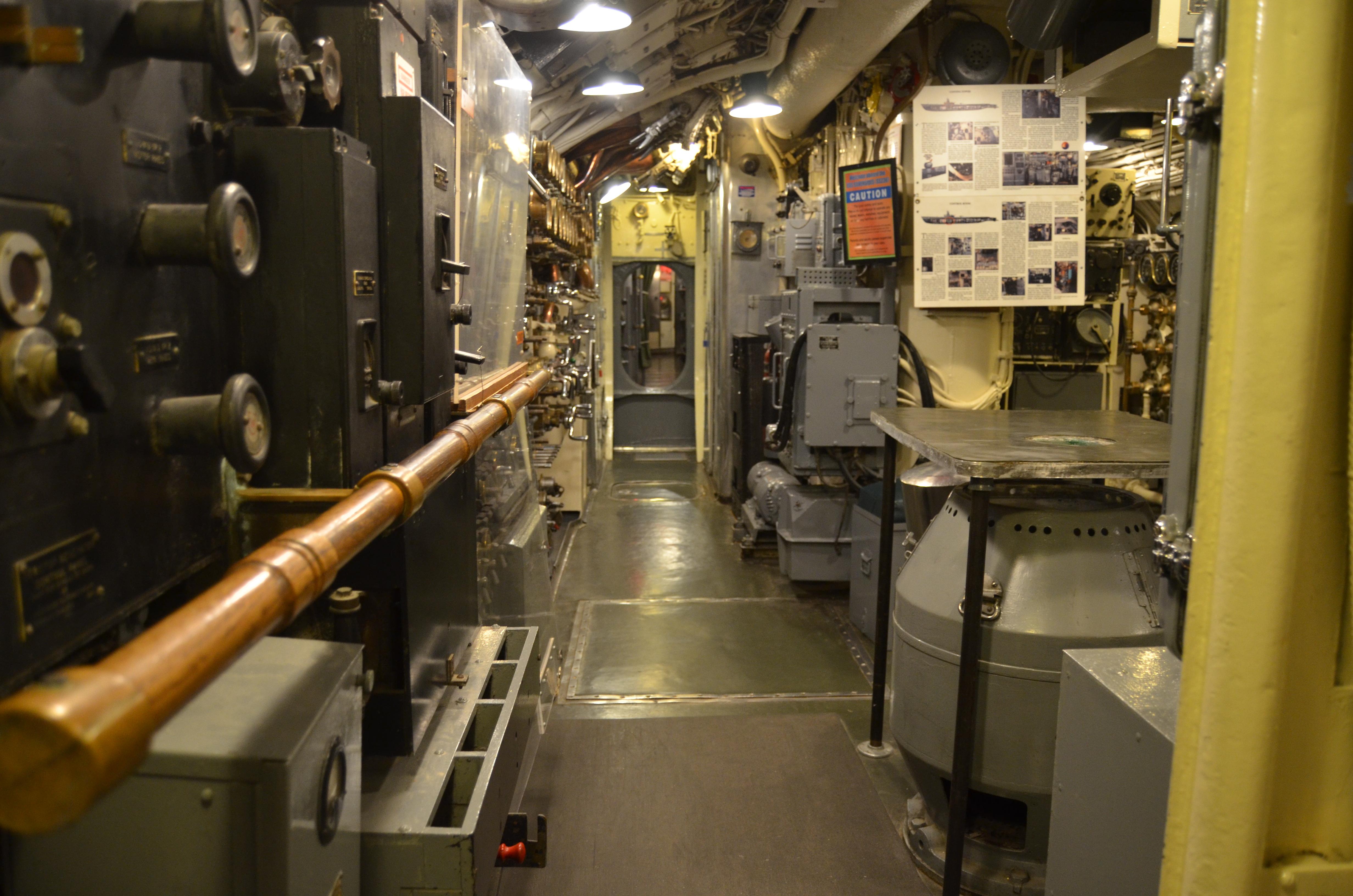 USS Silversides Submarine Museum Hallway