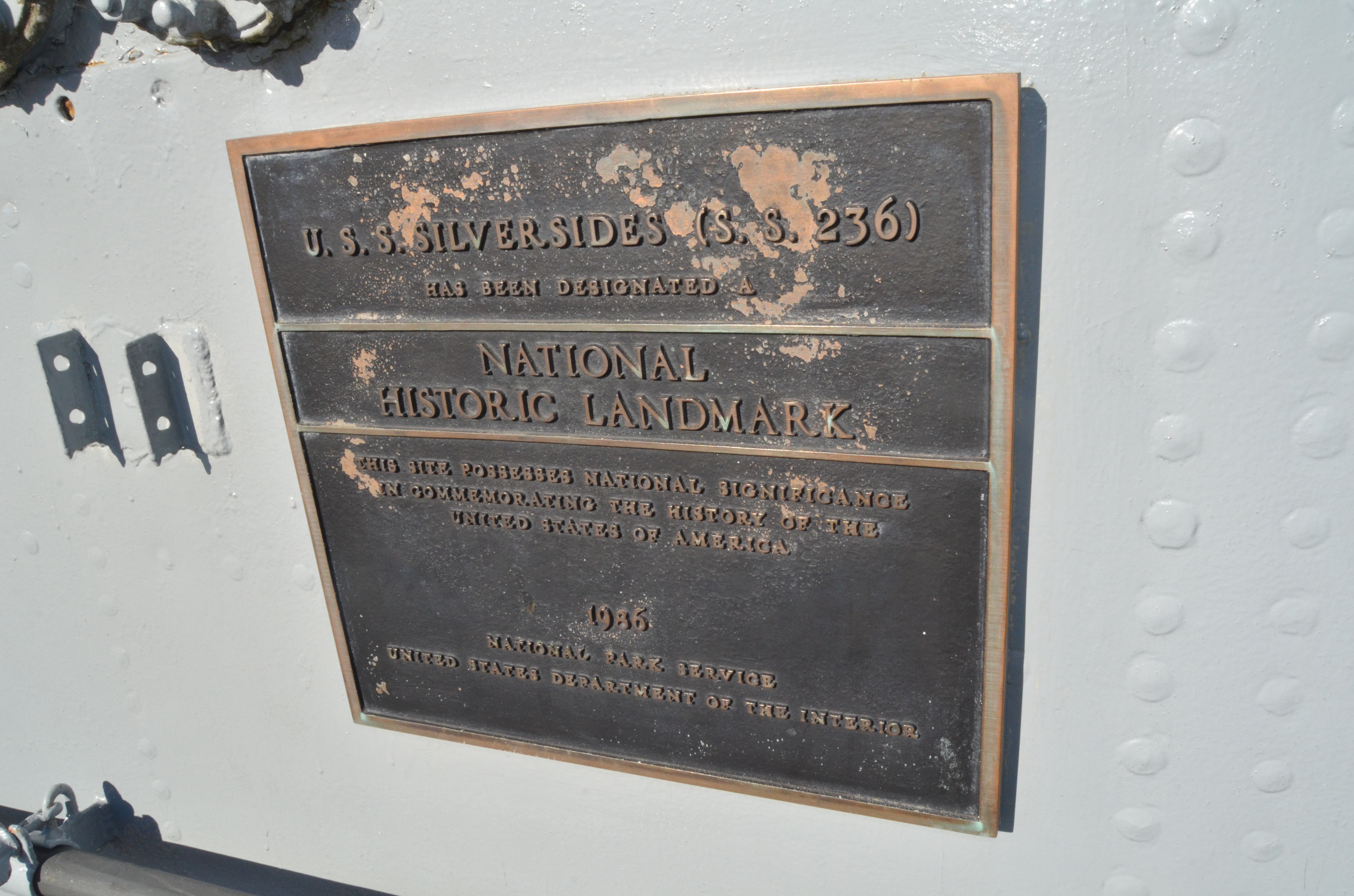 USS Silversides Submarine Museum Historical Landmark Plaque