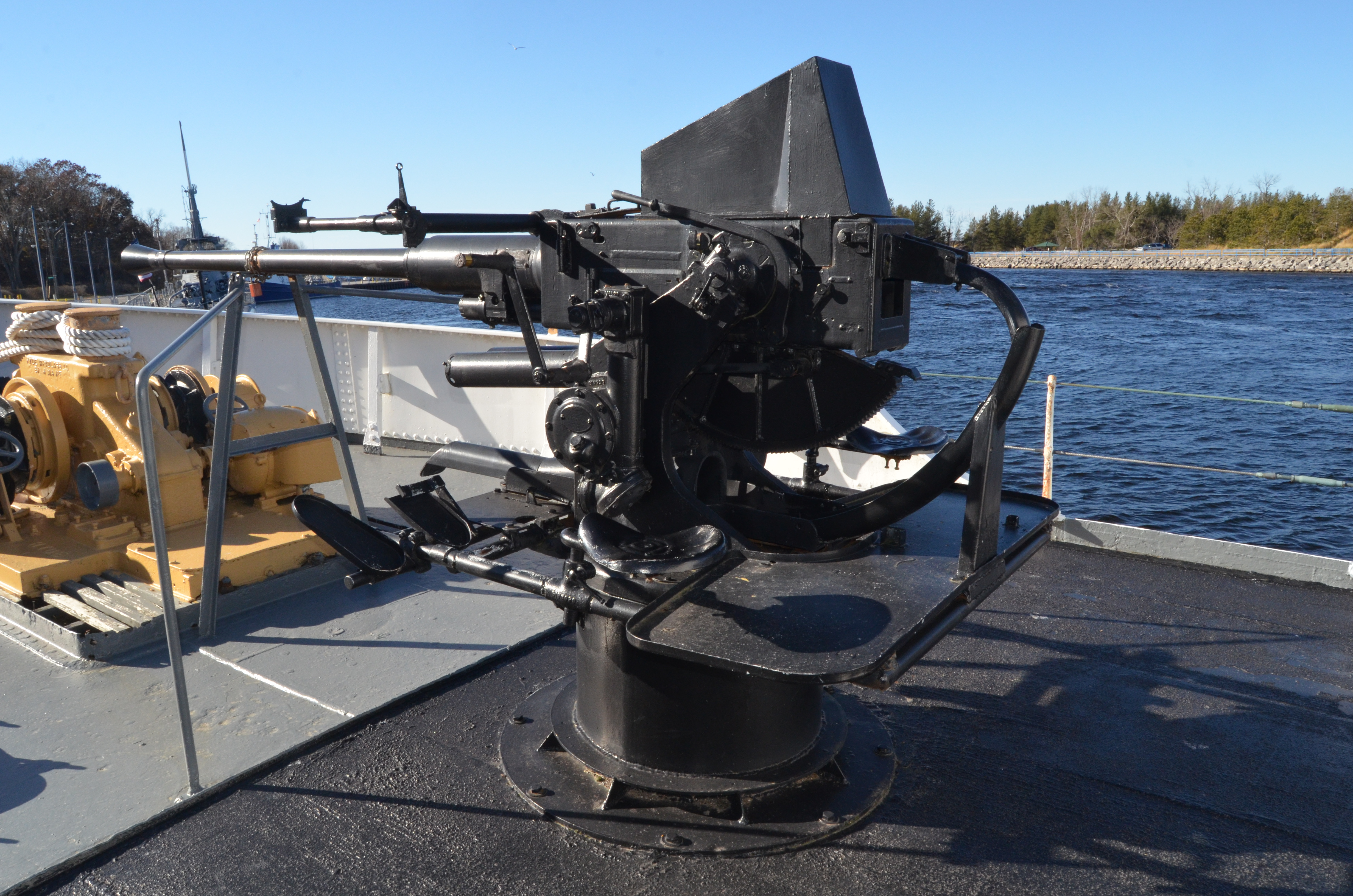 USS Silversides Submarine Museum McLane Deck Gun