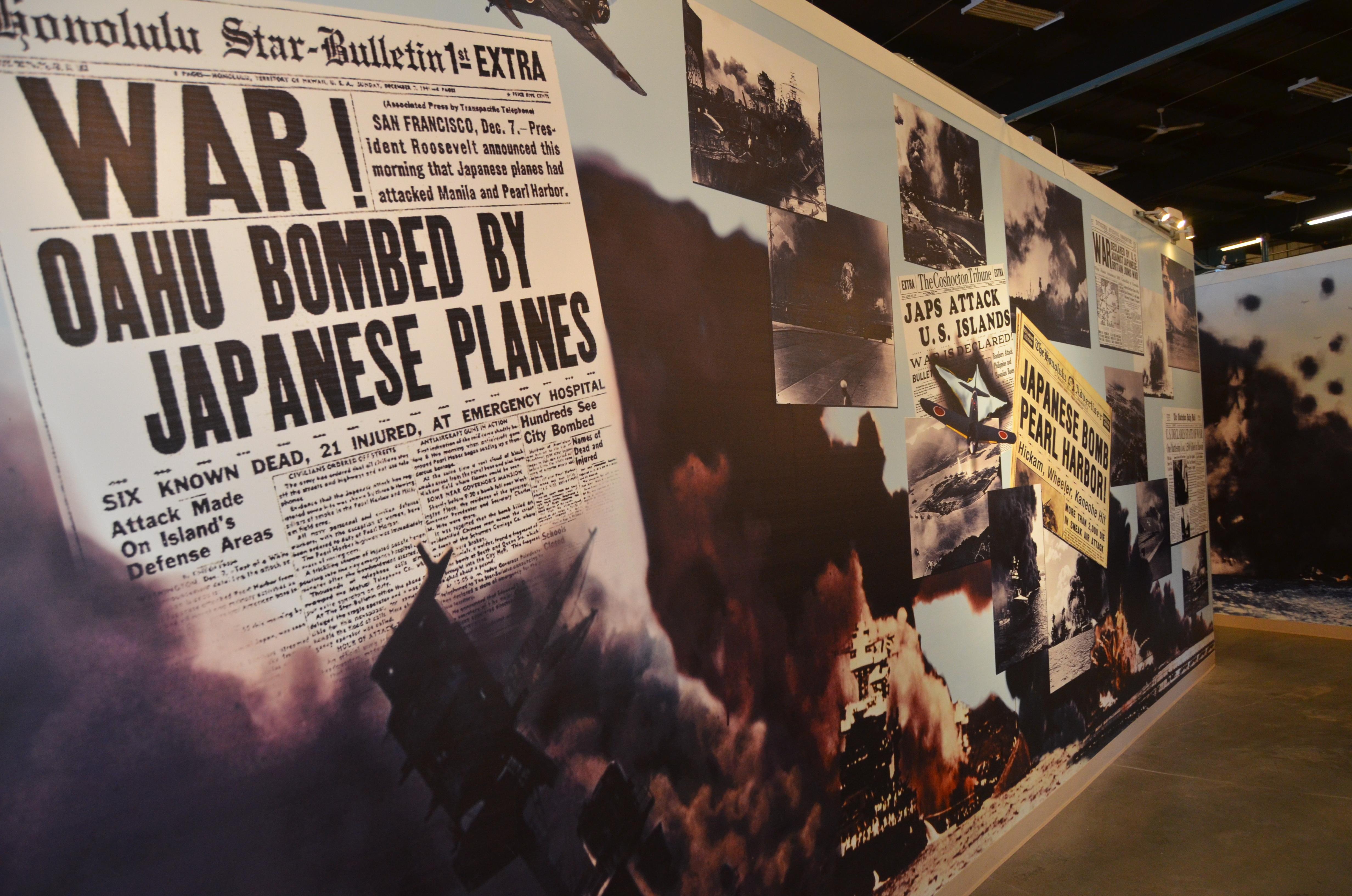 USS Silversides Submarine Museum Newspaper Mural WWII
