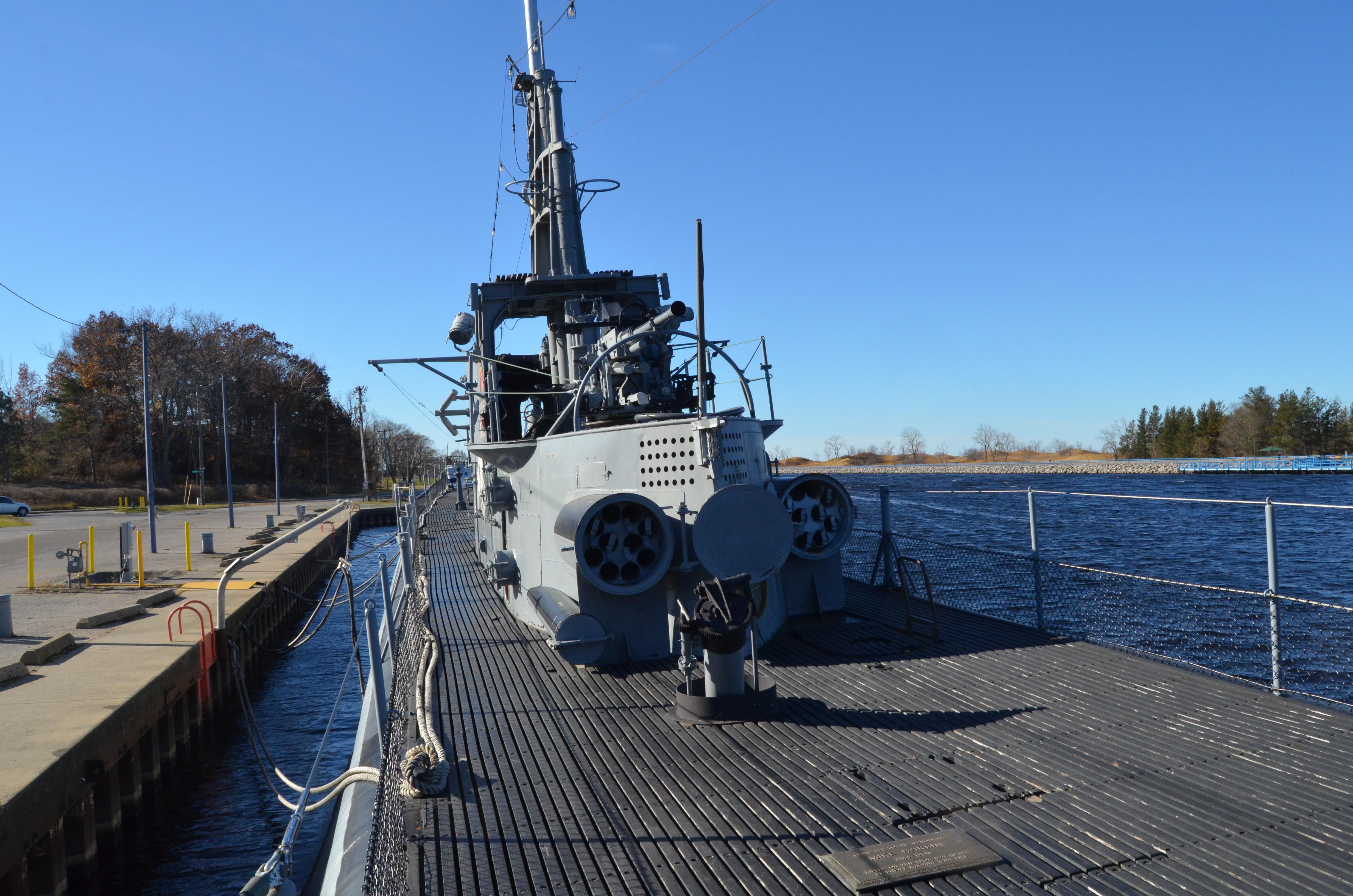 USS Silversides Submarine Museum Top Deck