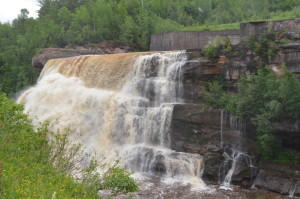Victoria Dam Waterfall Ontonagon Michigan
