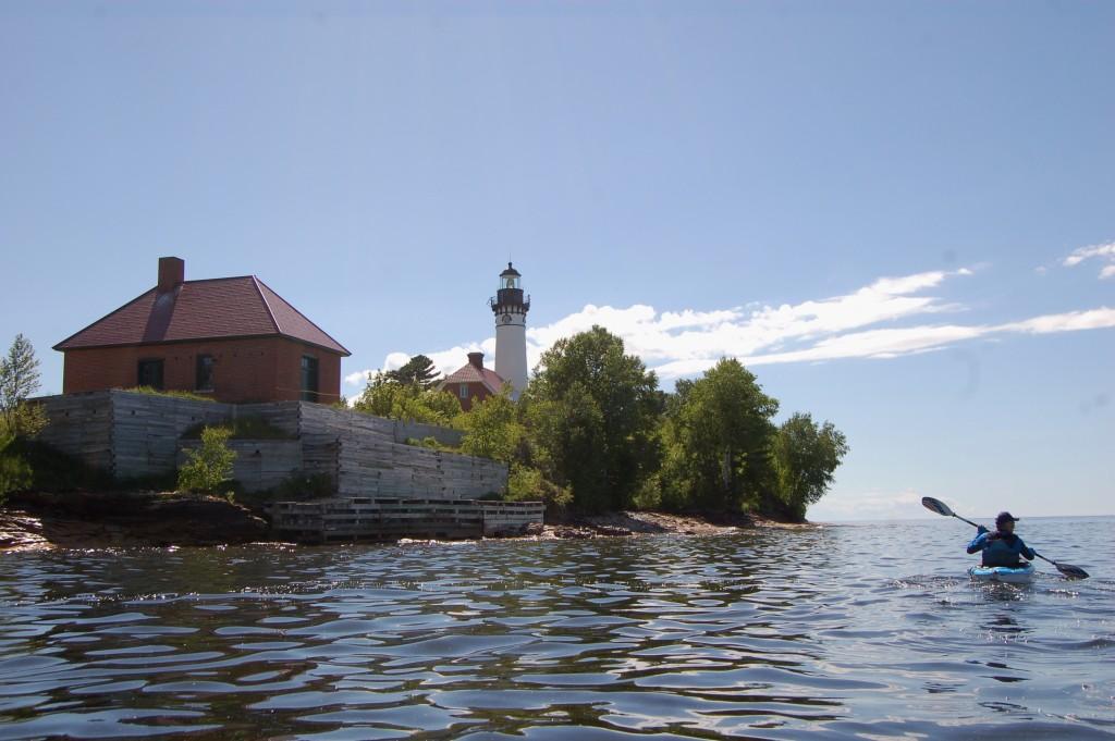 Au Sable Point Light Station kayak trip