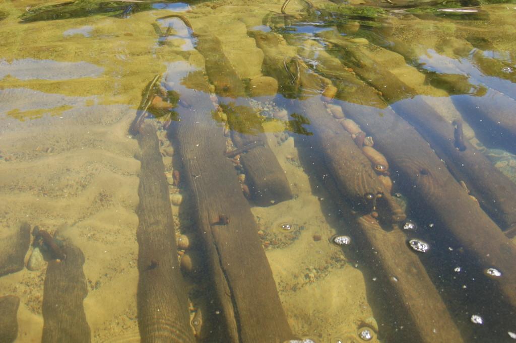 Kayaking over shipwrecks at Pictured Rocks National Lakeshore