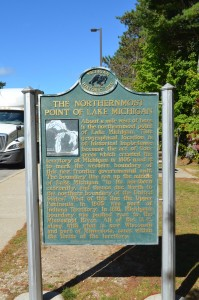 Northernmost Point of Lake Michigan Historic Marker