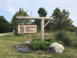 Suttons Bay Ciders Sign Leelanau Michigan