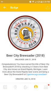 Beer City Brewsader Untappd Badge