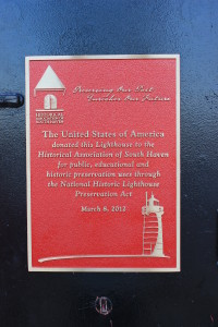 South Haven Lighthouse Information Plaque