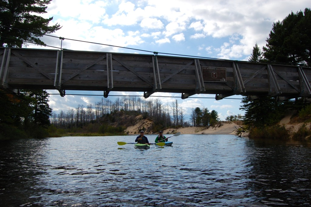 Two Hearted River Kayak Suspension Bridge Family