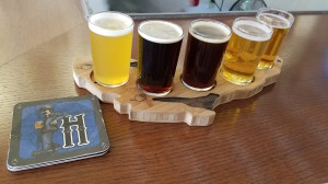 Haymarket Brewery and Taproom Beer Flight Michigan