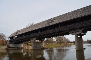 Frankenmuth Holz Brucke Covered Bridge Underneath