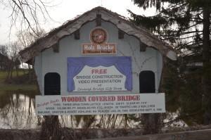 Frankenmuth Holz Brucke Information Sign