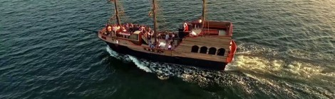 Pirate Ship Invades Munising Near Pictured Rocks in 2018