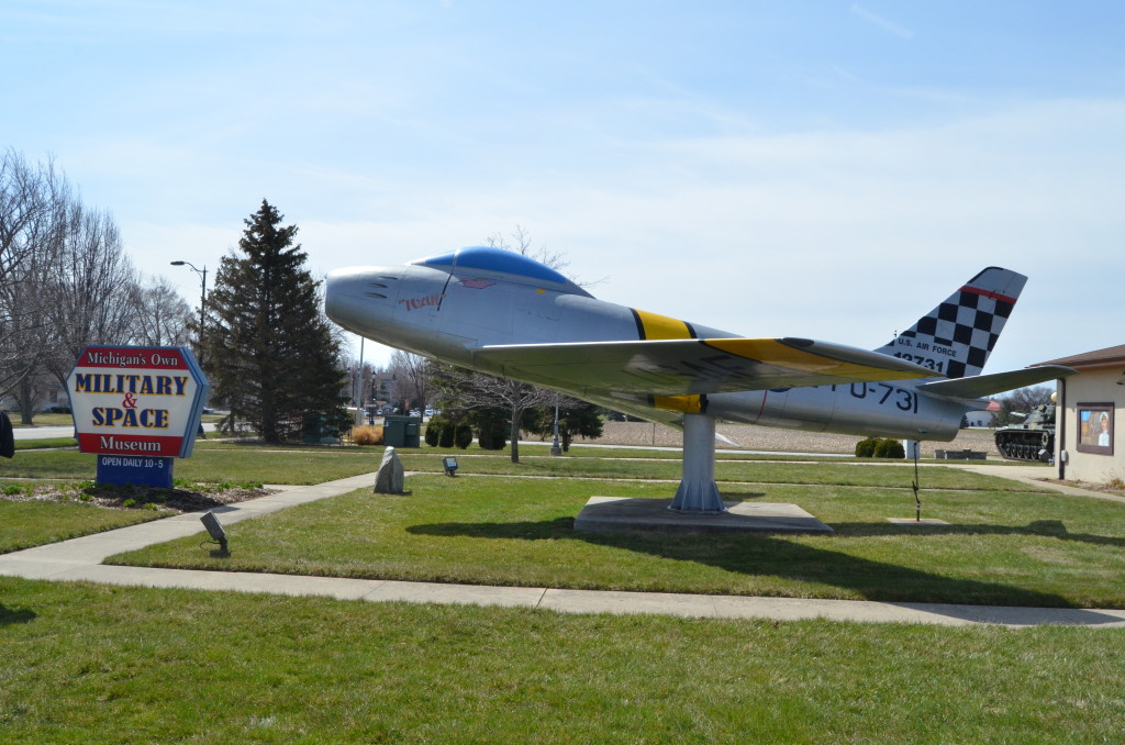 Michigan's Own Military and Space Heroes Museum F-86 Saberjet Display