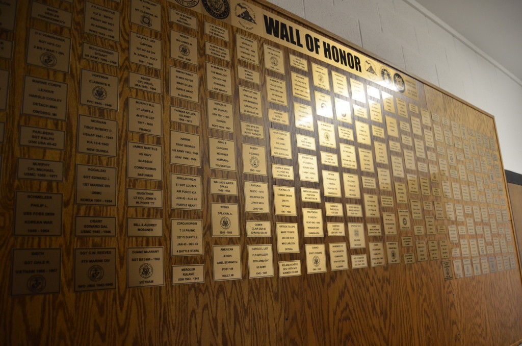 Michigan's Own Military and Space Heroes Museum Wall of Honor