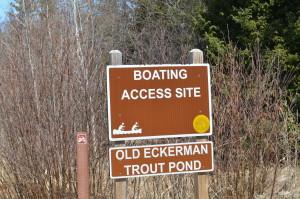 Tahquamenon Scenic Byway Eckerman Trout Pond