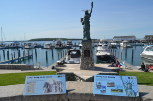 Mackinac Island State Harbor Statue of Liberty Michigan