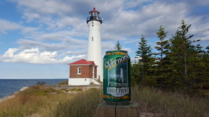 Crisp Point Lighthouse Vernors Can Pure Michigan Lighthouses