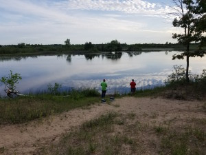 Alpena Island Park Father Son Fishing