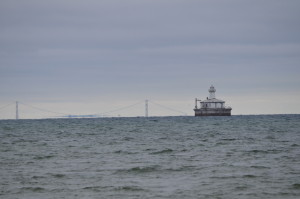 Cheboygan Lighthouse Ruins Fourteen Foot Shoal Mackinac Bridge
