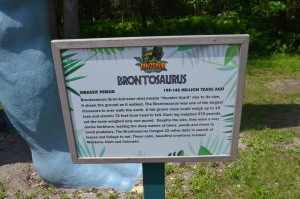 Dinosaur Gardens Brontosaurus Sign Ossineke Michigan