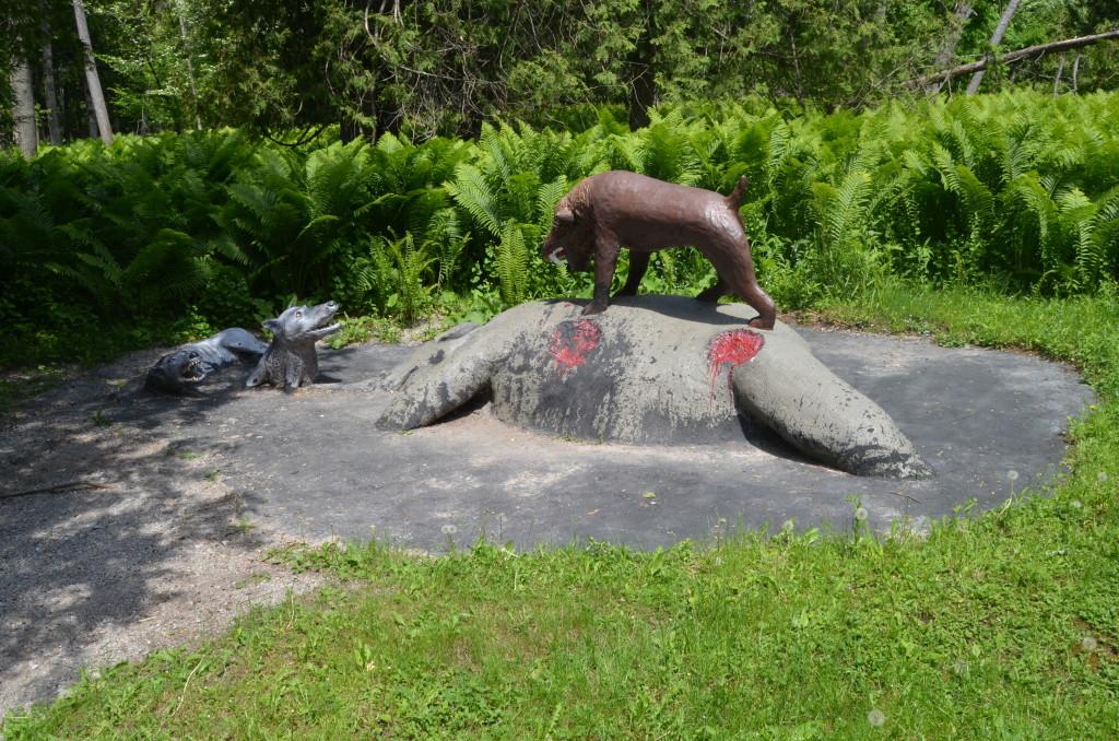 Dinosaur Gardens La Brea Tar Pits Ossinke Michigan
