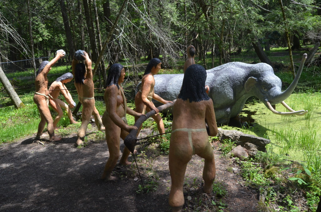 Dinosaur Gardens Mammoth Natives Attack Ossineke Michigan