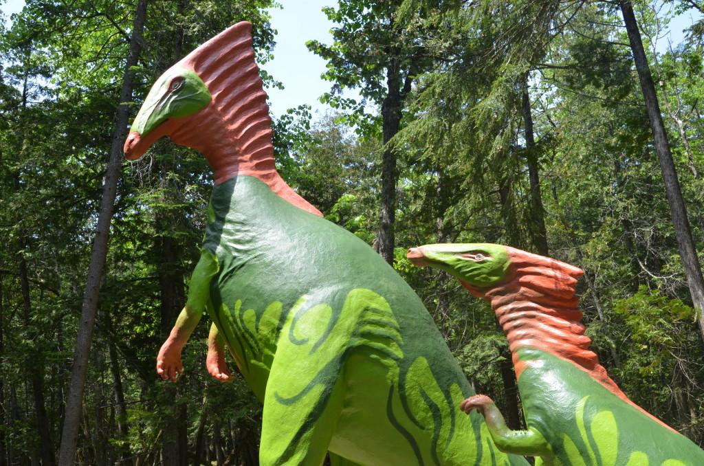 Dinosaur Gardens Parasauralophus Two Ossinke Michigan