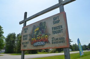 Dinosaur Gardens Sign Ossineke Michigan