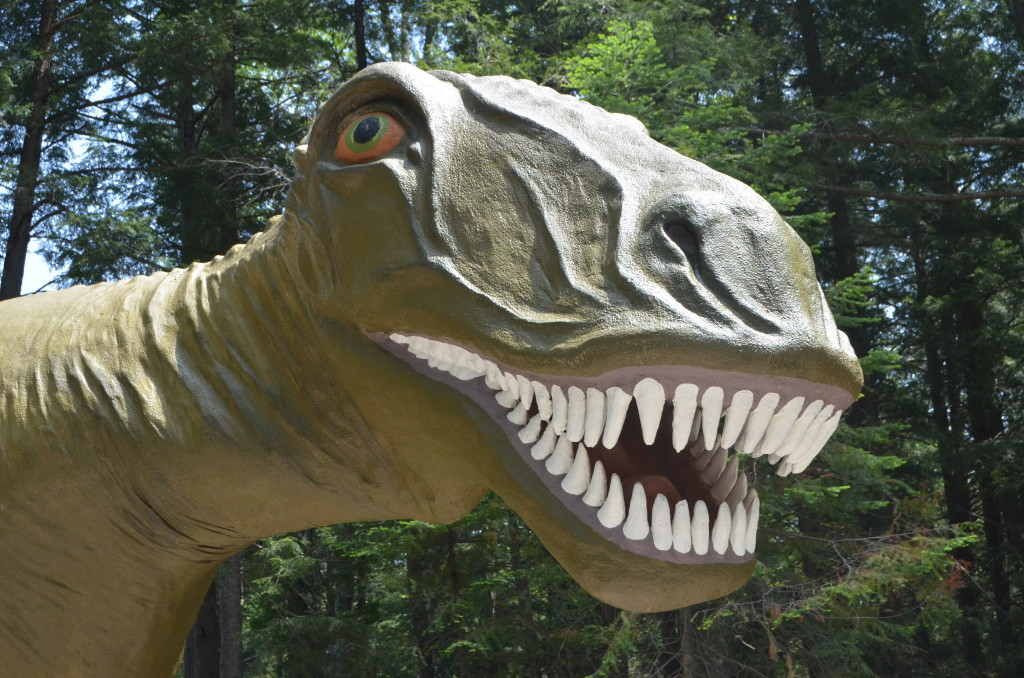 Dinosaur Gardens T Rex Close Up Ossineke Michigan Prehistoric