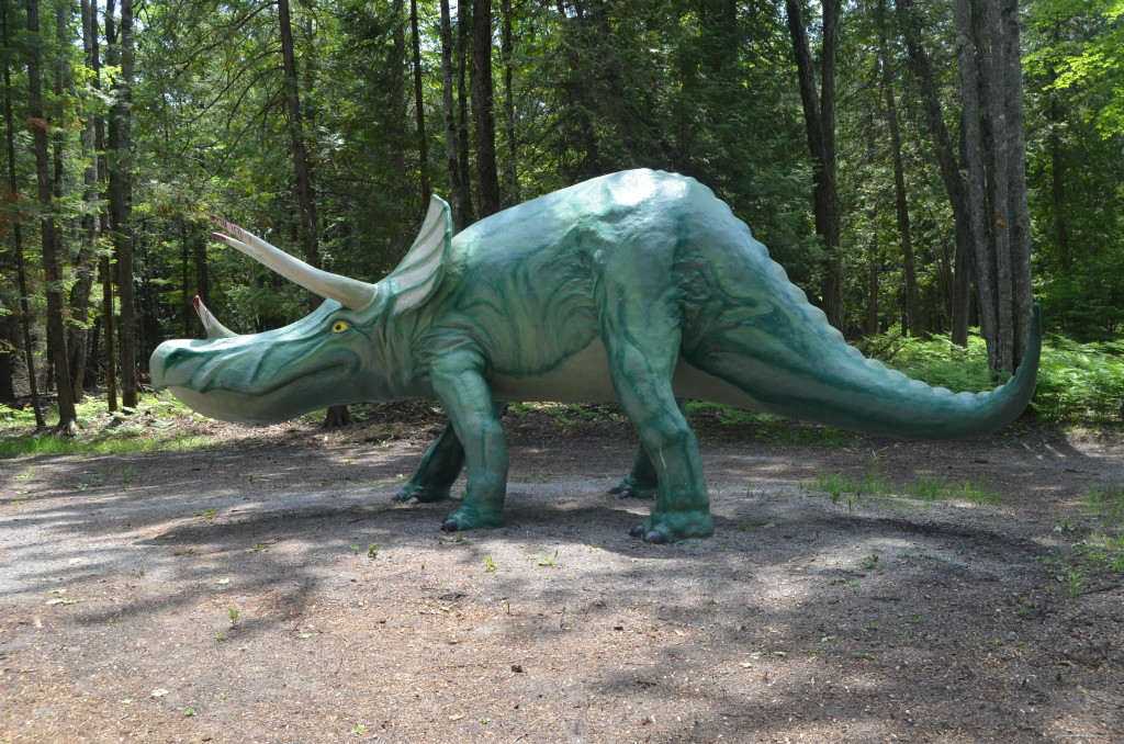 Dinosaur Gardens Triceratops Ossineke Michigan