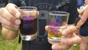 Schramm's Mead Blackberry (left) and Ginger (right)