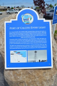Calcite Light Display Michigan Rogers City Plaque