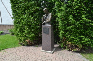 Claude Shannon Park Gaylord Michigan Statue