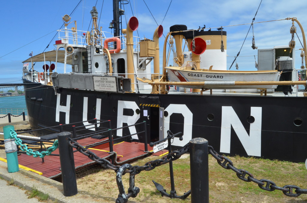 Lightship Huron Full Side View Port Huron Michigan