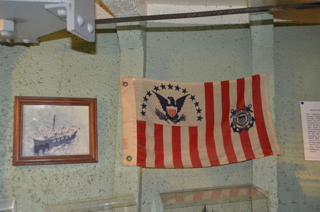 Lightship Huron Michigan Museum Coast Guard Flag