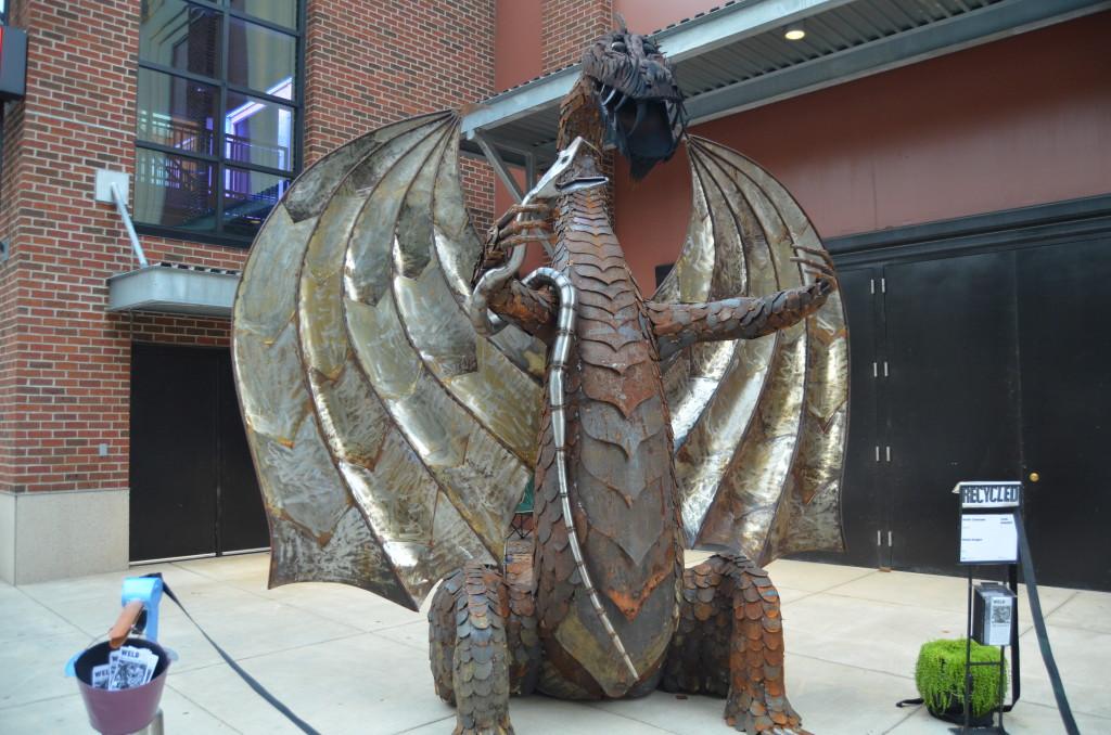 ArtPrize 10 Metal Dragon by Keith Coleman