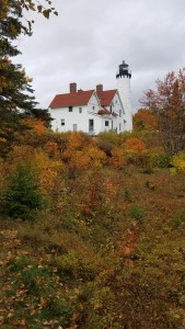 Fall Color Point Iroquois Lighthouse Vertical