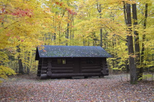 Fall Color Whitefish Bay Scenic Byway Cabin Monocle Lake Campground