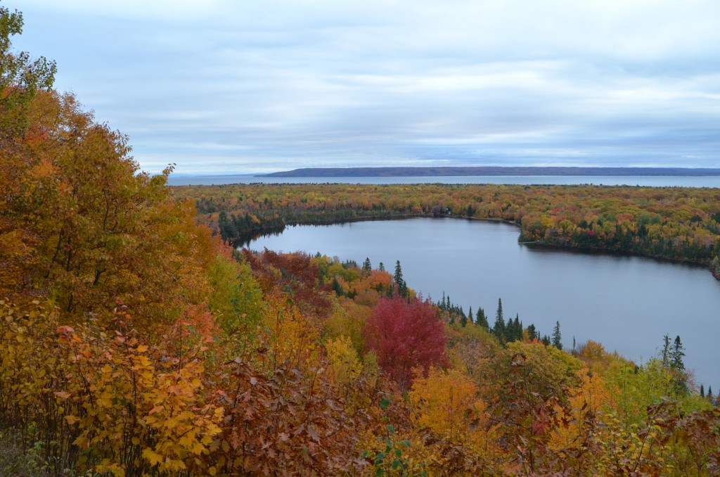 Fall Color Whitefish Bay Scenic Byway Mission Hill Overlook