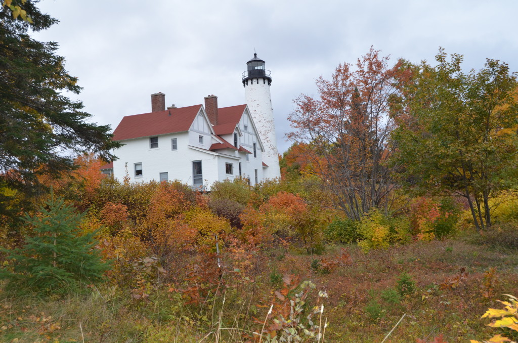 Fall Color Whitefish Bay Scenic Byway Point Iroquois Lighthouse Boardwalk