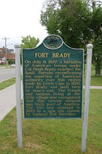 Fort Brady Sault Michigan Historical Marker