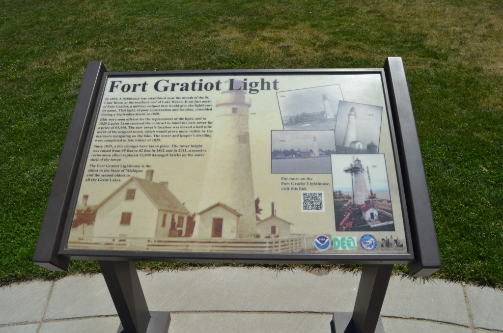 Fort Gratiot Lighthouse Historical Information Plaque