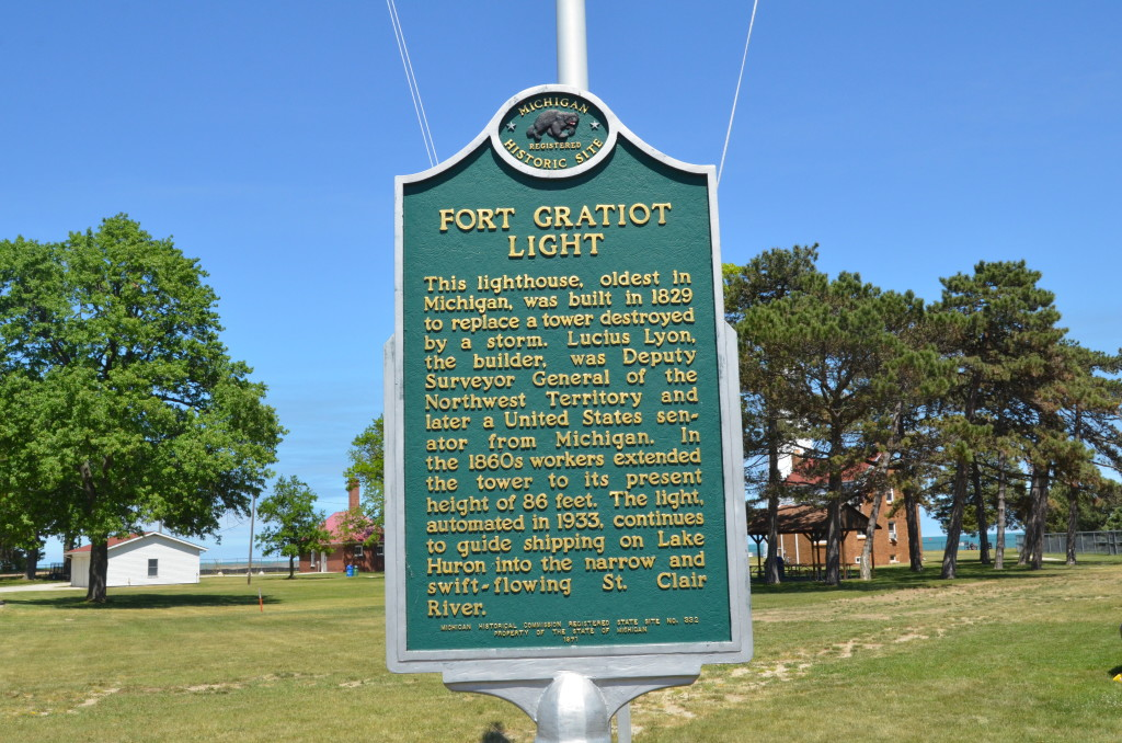 Fort Gratiot Lighthouse Michigan Historical Marker