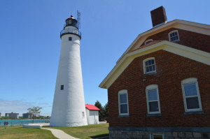 Fort Gratiot Lighthouse Tower Side View Michigan