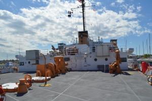 Icebreaker Mackinaw Maritime Museum Back Deck